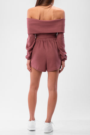 MAELYNN SHORTS SET [MAUVE]