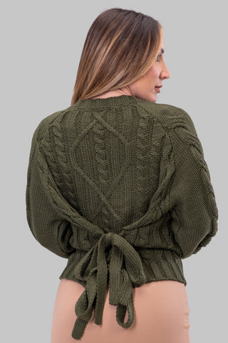MARCI SWEATER [OLIVE]