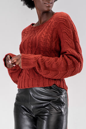MARCI SWEATER [BURGUNDY]