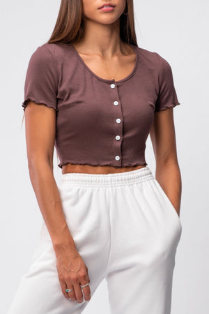 MARGO TOP [BROWN]