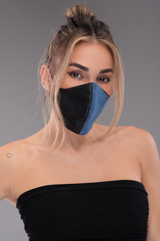 EVIL EYE MASK CHAIN [BLACK]