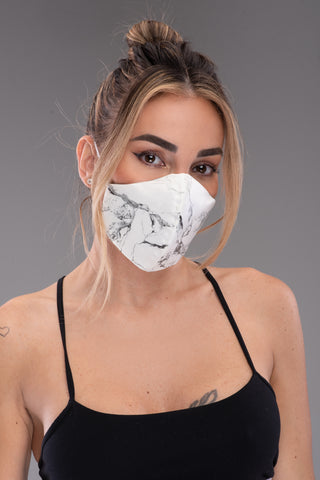 BYE LEATHER MASK [MARBLE]