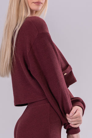 MINDY TOP [BURGUNDY]