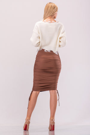 KENDALL SKIRT [TAN]