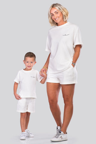 IVY NORAH SHORTS SET [WHITE]