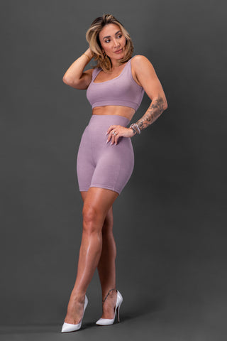 NORMA BIKER SHORTS [PURPLE]