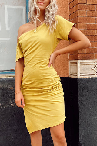 COURTNEY DRESS [MUSTARD]