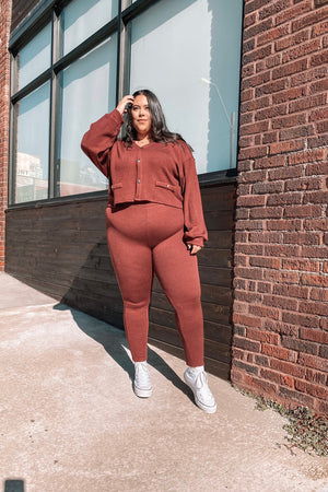 MINDY LEGGINGS [BURGUNDY]