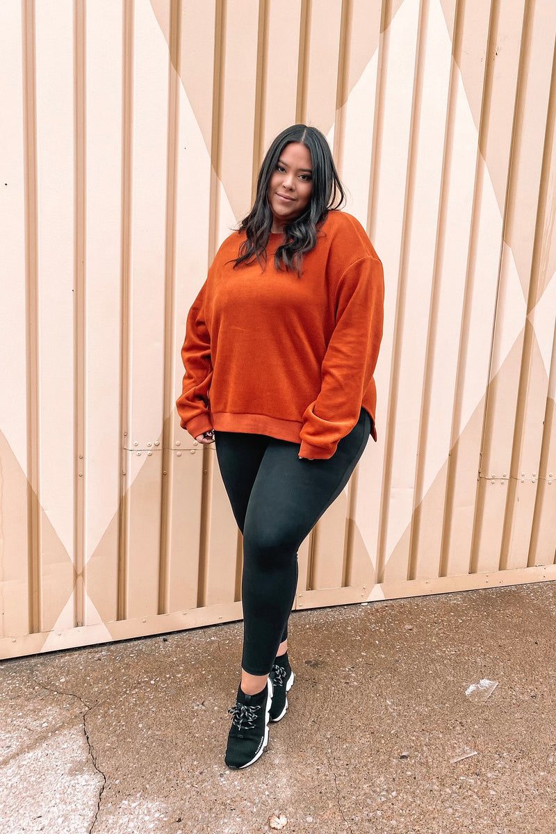 LINNETTE SWEATER [BURNT ORANGE]
