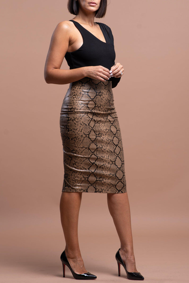 RAQUEL SKIRT [BROWN]