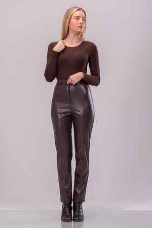 SABRINA BODYSUIT [BROWN]
