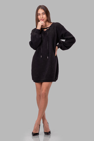 SAMANTHA DRESS [BLACK]