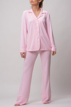 BYE BUTTON UP TOP [PINK]