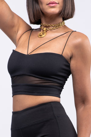 BYE x E SPORTS BRA [BLACK]
