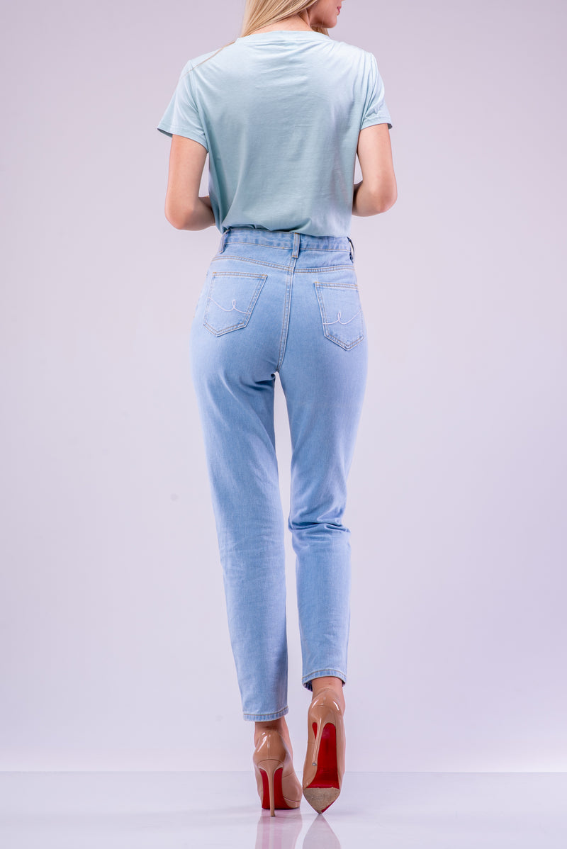 BYE T-SHIRT BODYSUIT [LIGHT BLUE]
