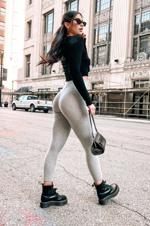 NORMA LEGGINGS [LIGHT GRAY]