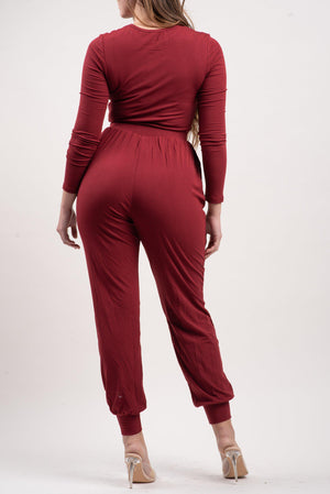 JULIANA JUMPSUIT 2.0 [BURGUNDY]