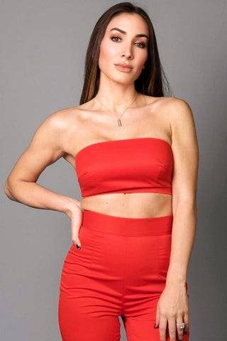 ELISE  TUBE TOP [RED]