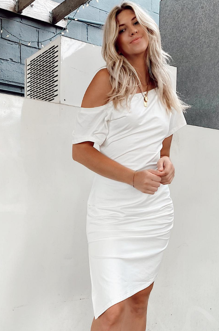 COURTNEY DRESS [WHITE]