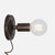 Bare Bulb Wall Sconce - Ebonized Rust - Plug-In