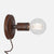 Bare Bulb Wall Sconce - Natural Rust - Plug-In