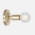Bare Bulb Wall Sconce - Raw Brass