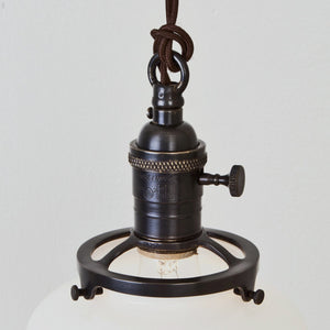 Schoolhouse Shade Pendant Light - Brass Switch Socket Detail