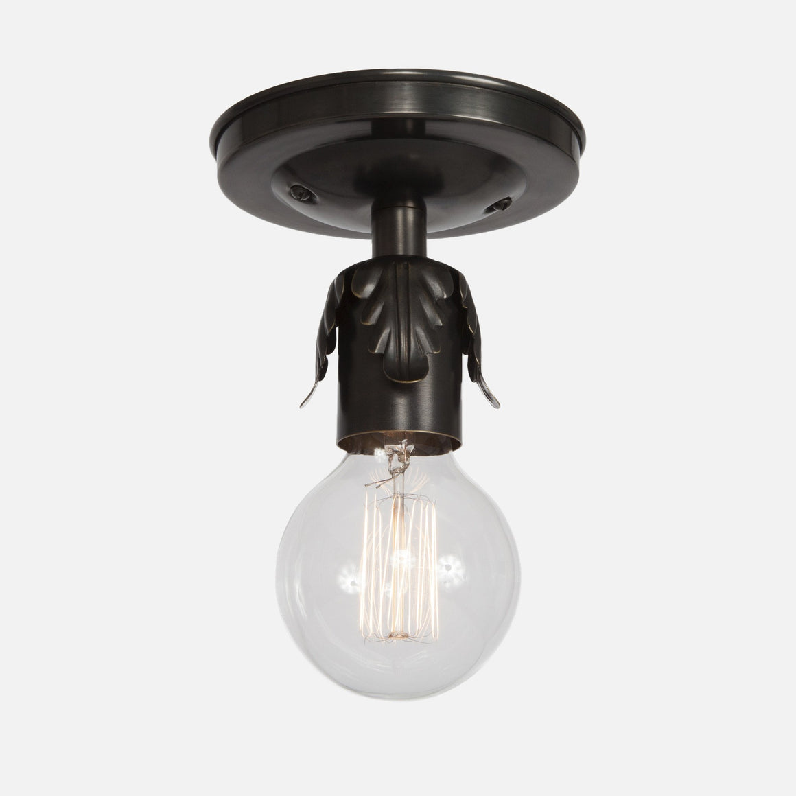 Fleurette Flush Mount Ceiling Light - Ebonized Brass