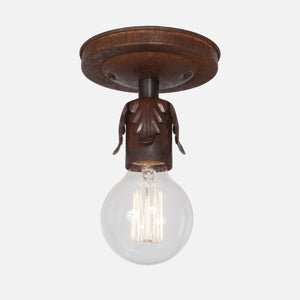 Fleurette Flush Mount Ceiling Light - Natural Rust