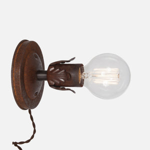 Fleurette Wall Sconce - Natural Rust - Plug-in