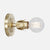 Fleurette Wall Sconce - Raw Brass