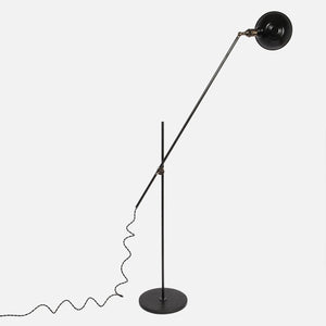 Otis Articulating Floor Lamp w/ Adjustable Factory Shade - Upright View