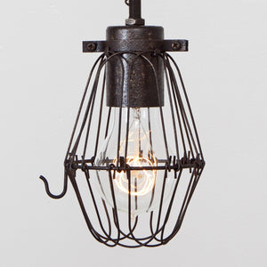 Basic Wire Bulb Cage Pendant Light - Simple Socket - Detail