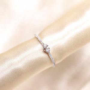 14K Gold In Love Stacking  Diamond Band - Ice Motif