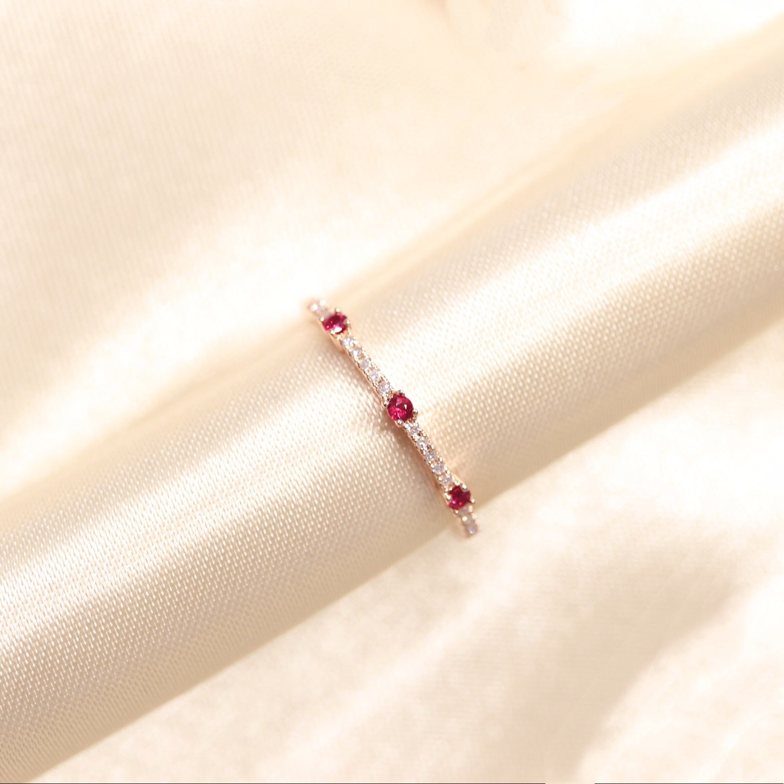 14K Gold & Precious Color Gemstone Ring - Ice Motif