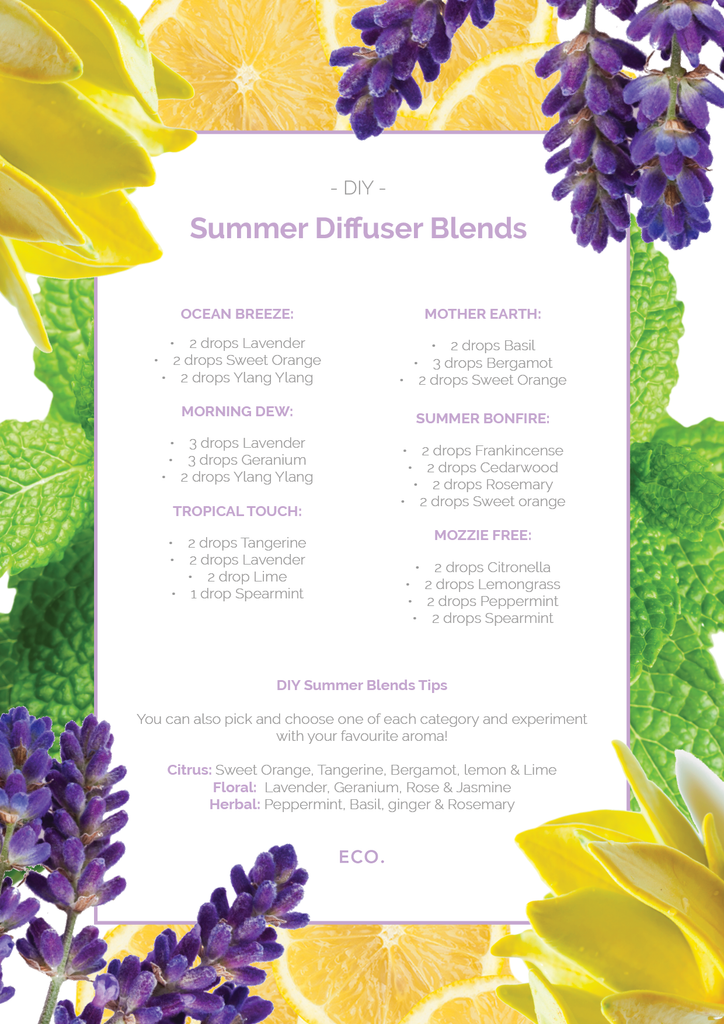 Summer diffuser blends
