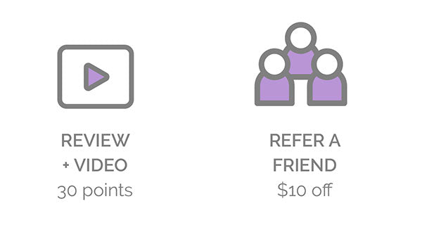 Review+Video, Refer a Friend