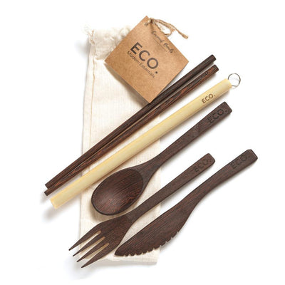 Wooden Coconut Cutlery Set