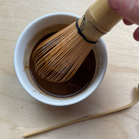 Whisking Chocolate Matcha Elixir