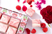 Raspberry Rose Marbled Marshmallows