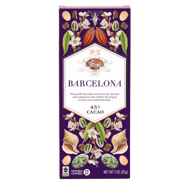 Barcelona Milk Chocolate Bar with Almonds