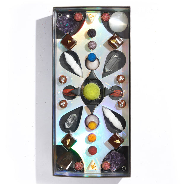 Grateful Dead: A collection of curated chocolates + cosmic crystals