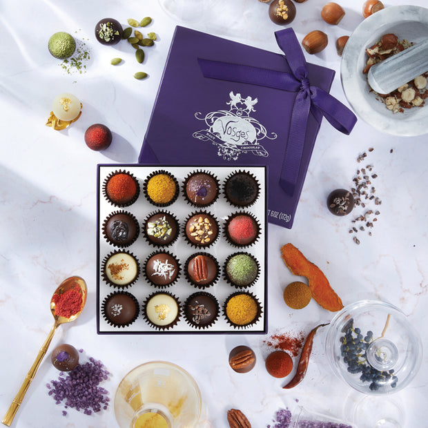 Exotic truffle collection 16 piece