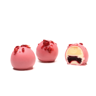 Ruby Raspberry Vanilla Truffle, Tray of 16