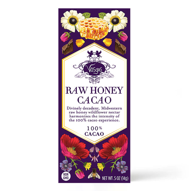 Raw Honey and 100% Cacao Dark Chocolate Mini Bar
