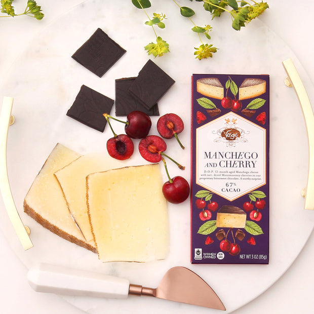 Manchego and Cherry Chocolate Bar