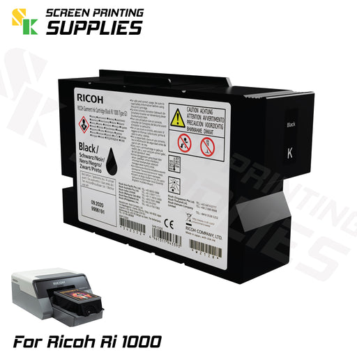 K Black ตลับหมึก ริโก้ Ri 1000 Ricoh Ri 1000 (200ml) Cartridges - SK Screen Printing Supplies