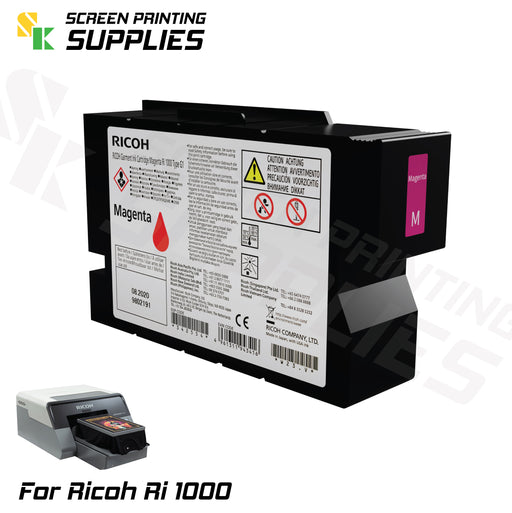Magenta ตลับหมึก ริโก้ Ri 1000 Ricoh Ri 1000 (200ml) Cartridges - SK Screen Printing Supplies