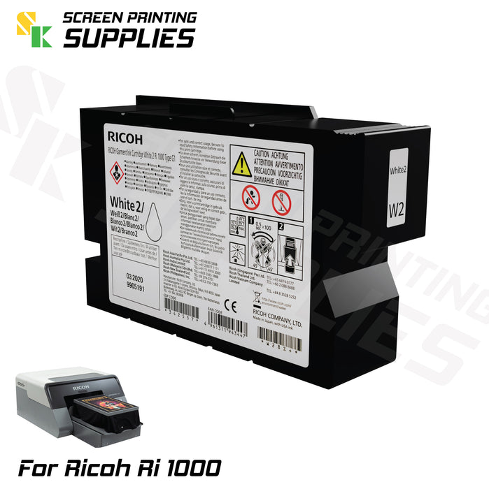 W2 ตลับหมึก ริโก้ Ri 1000 Ricoh Ri 1000 (200ml) Cartridges - SK Screen Printing Supplies