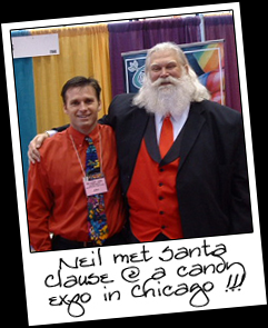Neil met Father Christmas aka Santa Clause at the All Candy Expo in Chicago